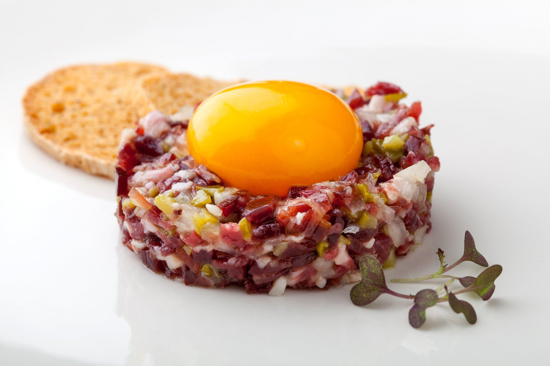 IBERICO HAM TARTARE WITH CURED EGG YOLK